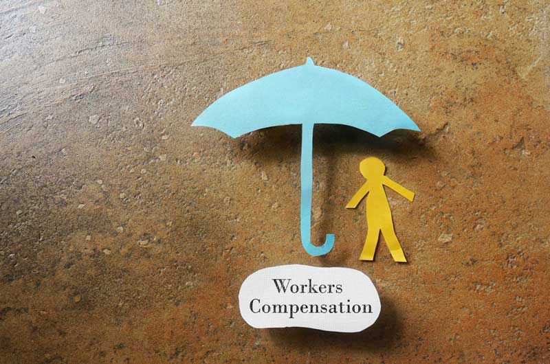 a paper cut out of workers compensation